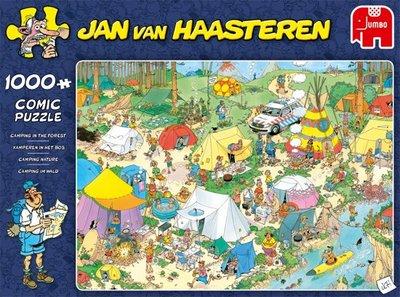 Jan van Haasteren Kamperen in het Bos - 1000 Stukjes Jumbo