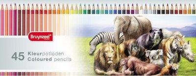 Bruynzeel - Het Wildlife-kleurblik - 45 kleurpotloden