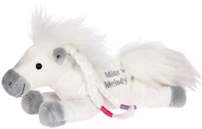 Miss melody klein knuffel paard wit