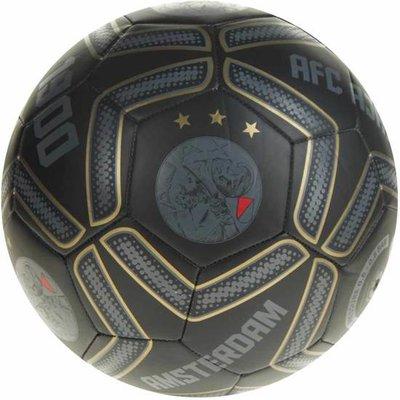 Ajax bal - zwart/goud - maat 5