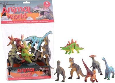 Animal World dinosaurussen 6 in zak