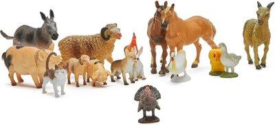 Animal World boerderijdieren 20 stuks in zak