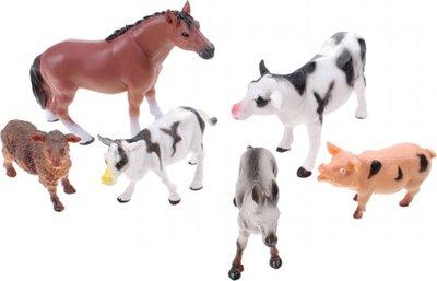 Animal World Boerderijdieren per 6 stuks