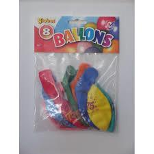Globos ballonnen 75 jaar 30cm - 8 stuks