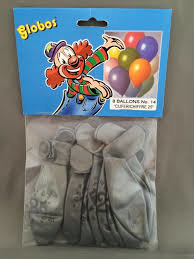 Globos ballonnen 25 jaar 30cm - 8 stuks - zilver