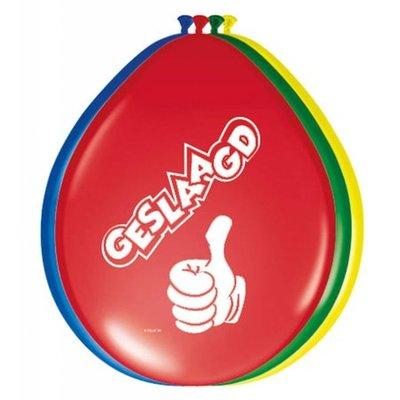 Globos ballonnen Geslaagd! 30cm - 8 stuks
