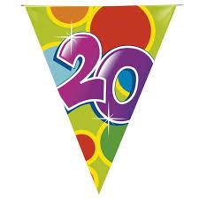 Vlaggenlijn 20 jaar - 10 meter