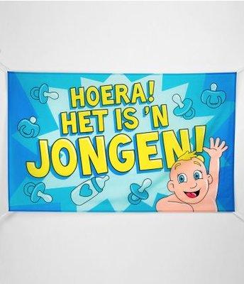 XXL Gevel Vlag 150x90cm Hoera Het Is 'n Jongen