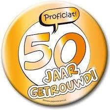 Button XL - 50 jaar getrouwd - 10 cm