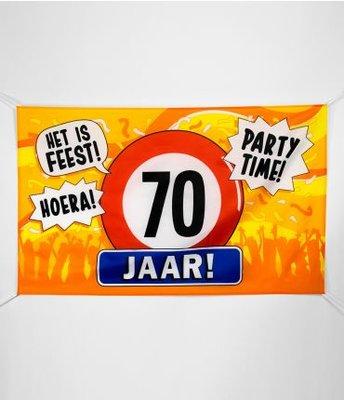 XXL Gevel Vlag 150x90cm Het is Feest! Party Time! 70 Jaar