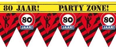 Party Tape - 80 Jaar