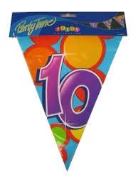 Vlaggenlijn 10 jaar - 10 meter