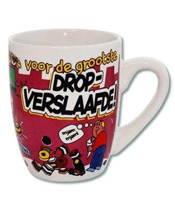 Cartoonmok - dropverslaafde