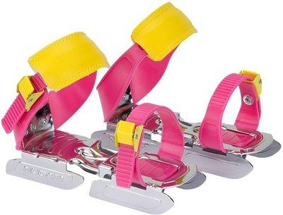 Nijdam Schaatsen - Maat 24 t/m 34 - roze/geel