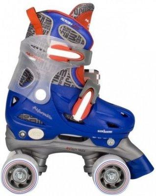 Nijdam Junior Rolschaatsen - Blauw - Maat 27-30