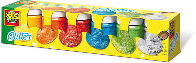 SES glitter plakkaatverf 6 potjes