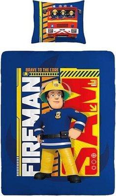 Brandweerman Sam Dekbedovertrek Eenpersoons 140x200cm + 1 kussensloop 60x70 cm - Blue