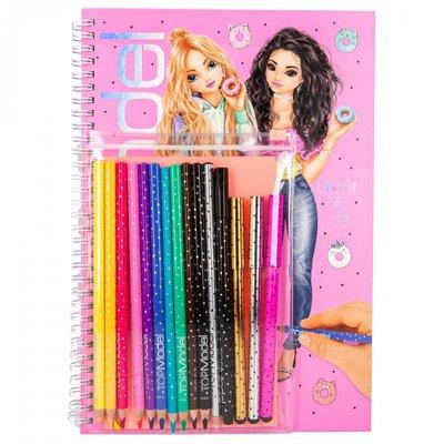 TOPModel kleurboek met kleurpotloden