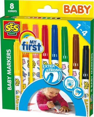 SES My First Baby markers 8 kleuren