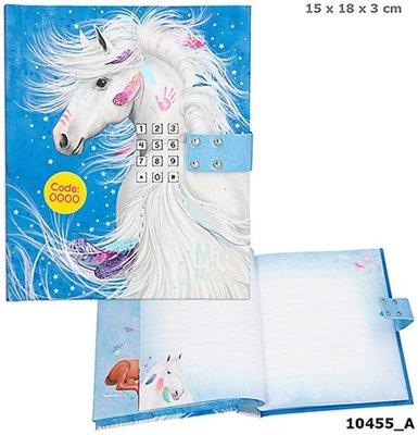 Miss Melody dagboek met Code en Geluid (BLAUW)