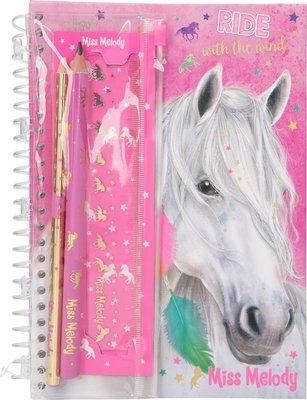 Miss Melody notitieboek met schrijfset