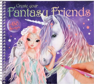 Create your Fantasy Friend stickerboek