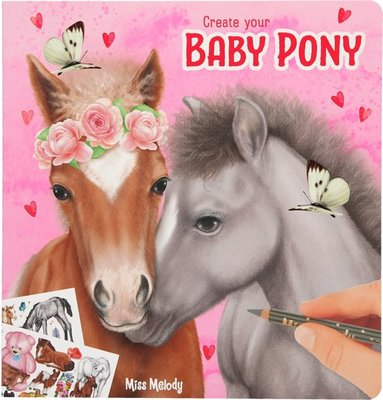 Miss Melody Create your Baby Pony kleur/stickerboek