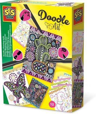 SES Doodle inkleurkaarten