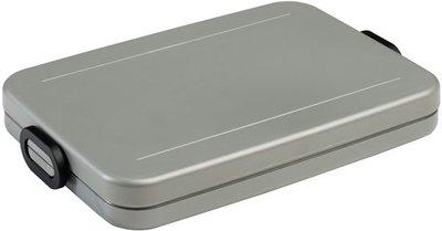 Mepal take a break lunchbox - flat - silver