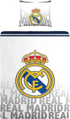 Real Madrid Dekbedovertrek Logo Wit 140 X 200 Cm