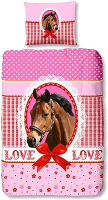 Good Morning Dekbedovertrek My horse 140x220 cm