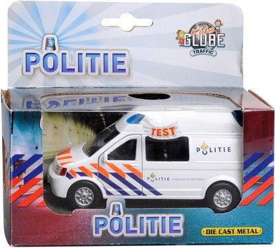 Kids Globe Politie Volkswagen Transporter met licht en geluid
