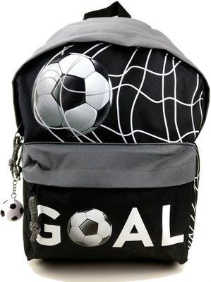 Run Away Goal! VOETBAL Rugzak Rugtas Schooltas Zwart Grijs